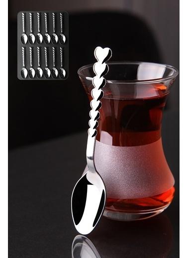 Kitchen Love 12 Adet Kalpli Paslanmaz Çelik Çay Kaşık Seti Renkli
